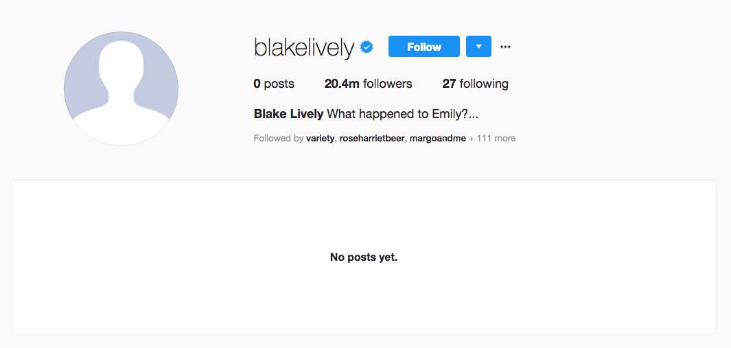Blake Lively Instagram Feed