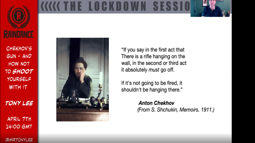 The Lockdown Sessions – Chekhov's Gun, and how not to shoot yourself with it