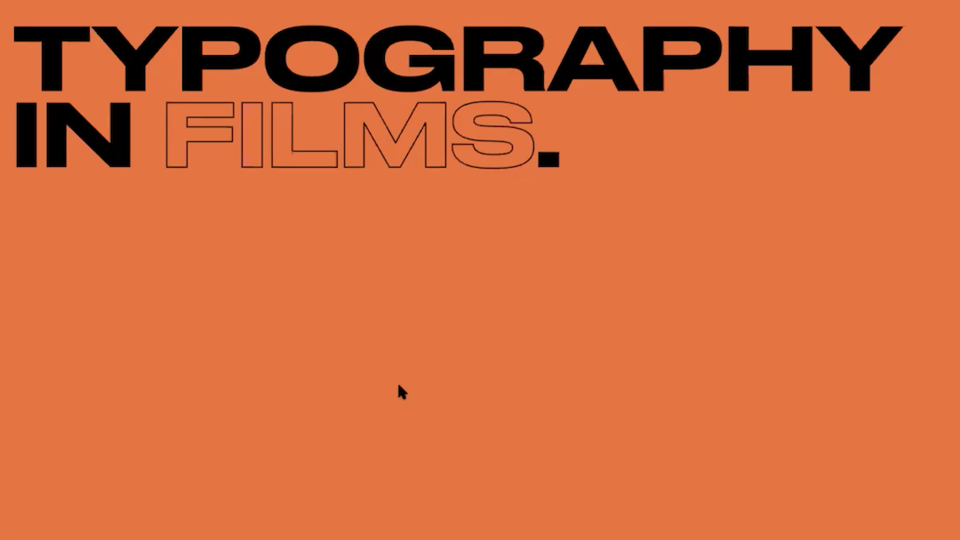 The Lockdown Sessions: Typography in Films